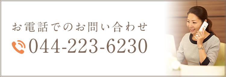 お電話でのお問い合わせ 044- 223- 6230